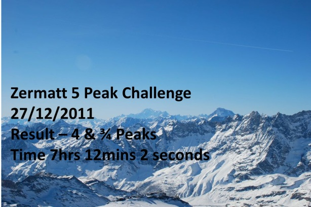 Chris Goodfellow's Zermatt 5 peak Challenge